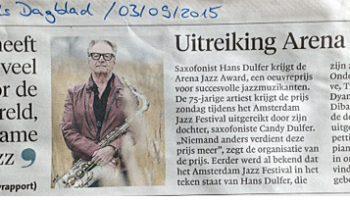 Hans Dulfer-Krantenknipsel